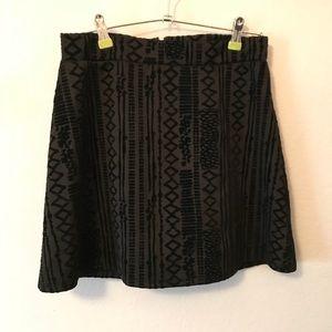 B Jewel Black Velvet Patterned Skirt